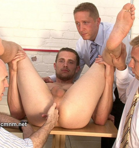 Straight guy abused by doctor and two gay 8