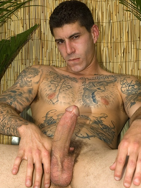 Tattooed-Covered Hung Island Stud Knox