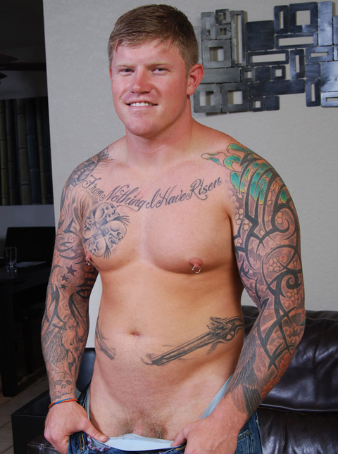 Solo Porn Show with Straight Military Guy Carter