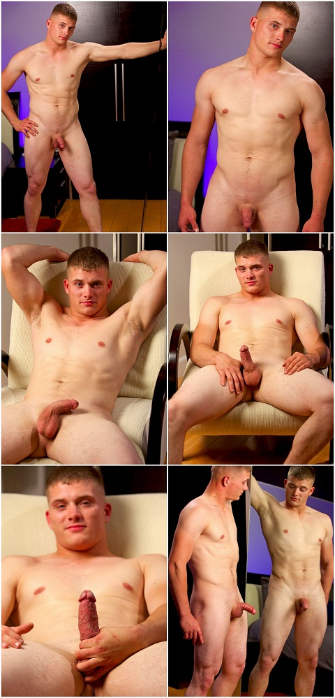 Tall Straight Troy's Explosive Wank Session