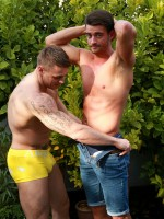 English Lads Straight Footballer James Enjoys his 1st Man Blow Job with Tyler 5