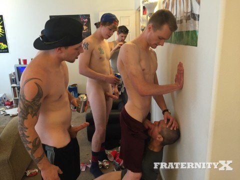 Fraternity X Punk-ass Pussy Bitch Tied and Fucked 3