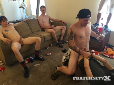 Fraternity X Punk-ass Pussy Bitch Tied and Fucked 6